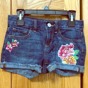 Jean shorts worth floral designs